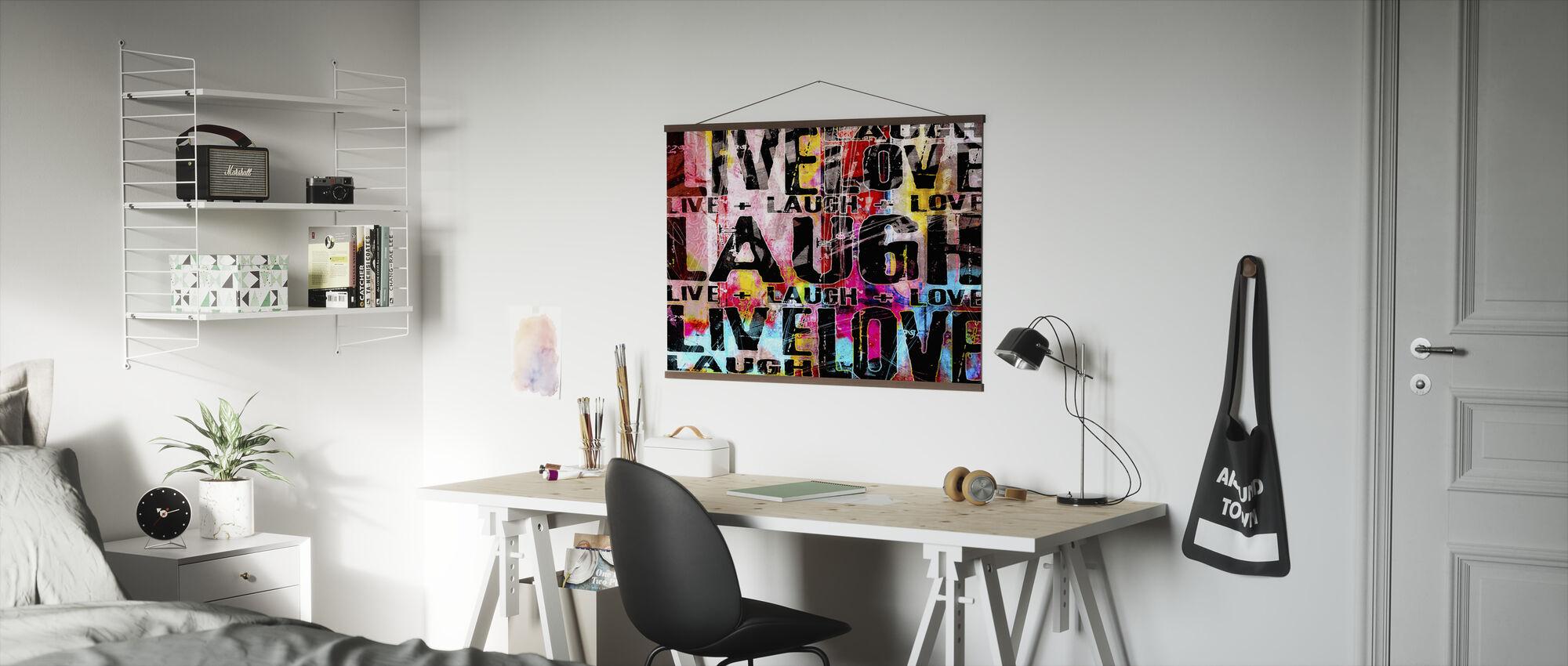 Live Lachen Liebe - Poster - Büro