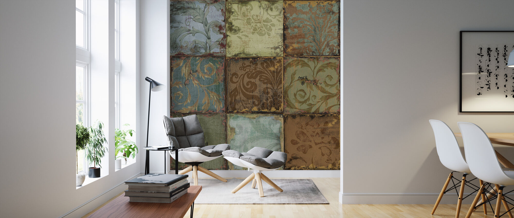 Tapestry Tiles 1 - Wallpaper - Living Room