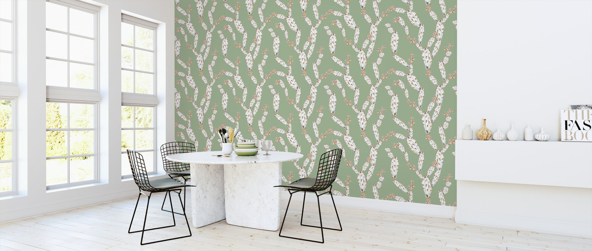 Mostly Cactus Green - Wallpaper - Kitchen