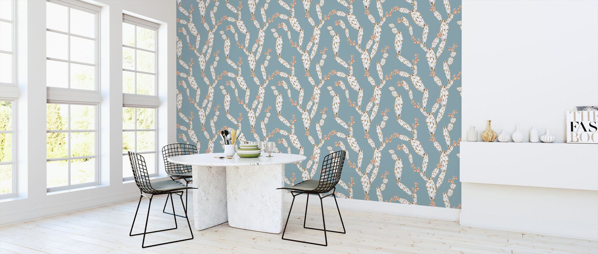 Mostly Cactus Blue - Wallpaper - Kitchen