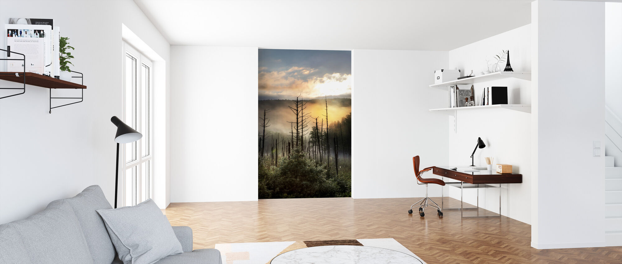 Vermont Swamp at Sunrise - Wallpaper - Office