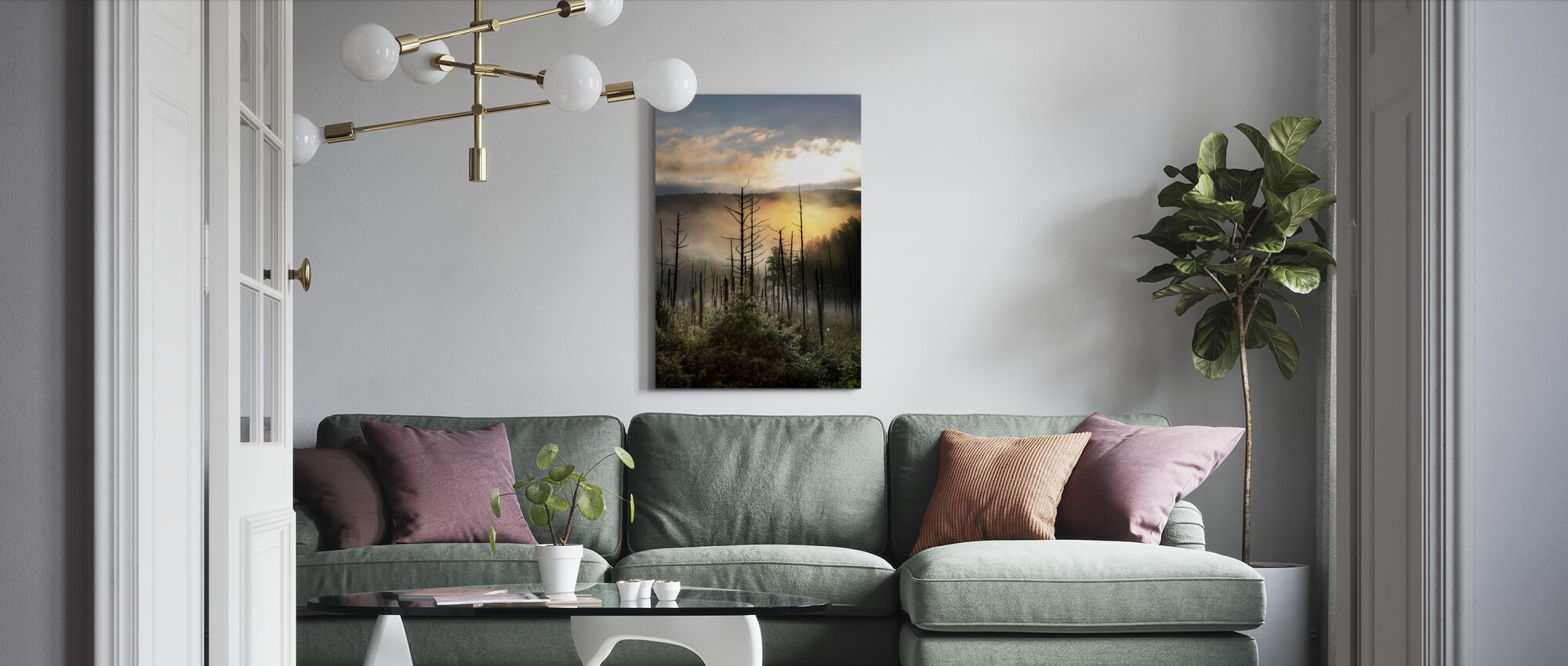 Vermont Swamp at Sunrise - Canvas print - Living Room