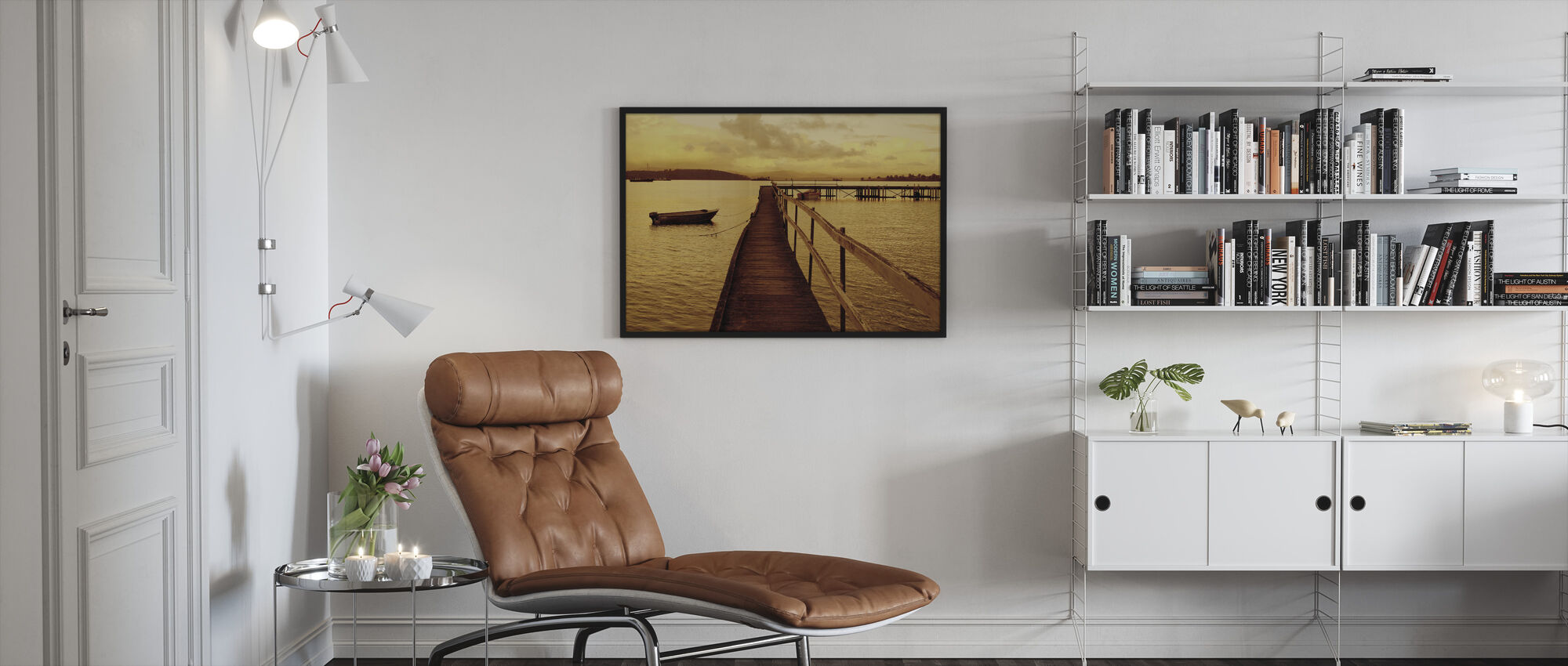 Art Of Waiting - Framed print - Living Room