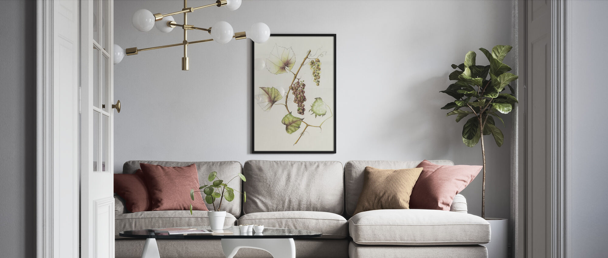Concord Grapes - Framed print - Living Room