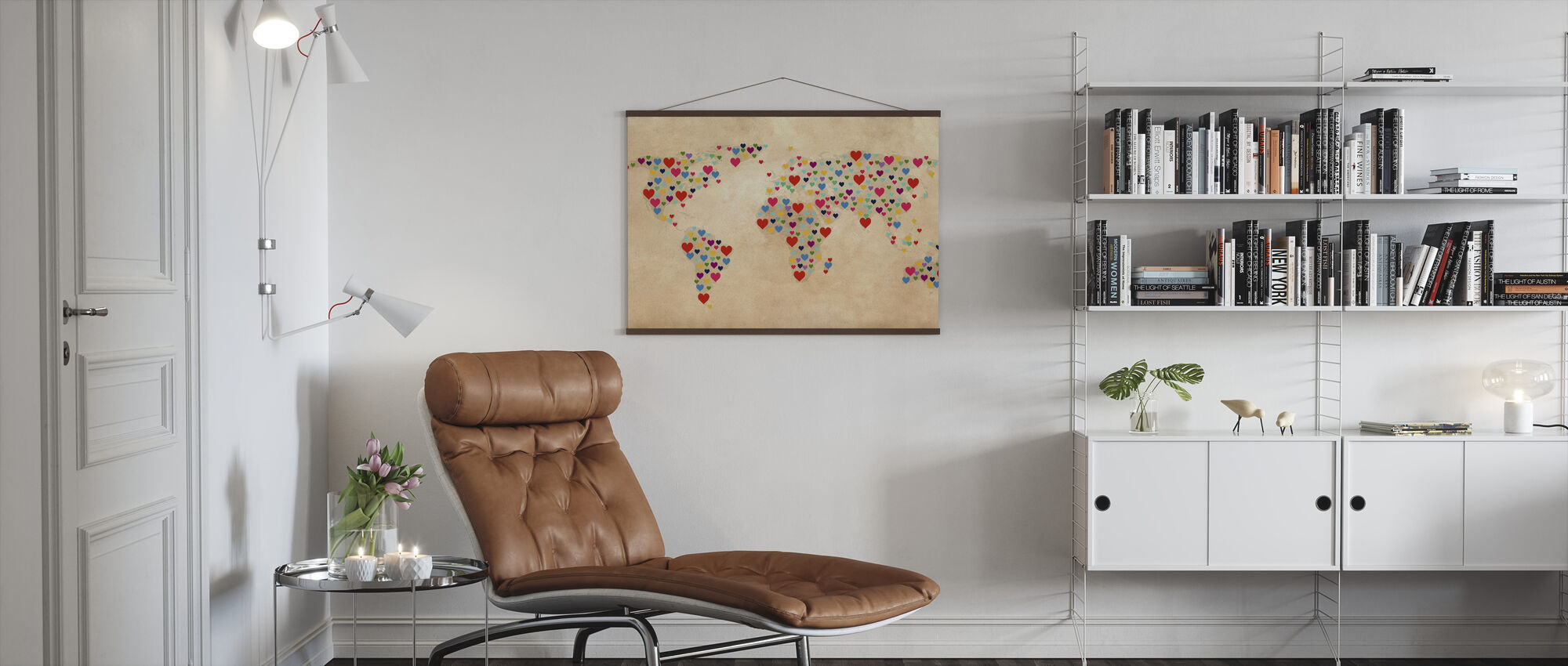 Map of Hearts - Poster - Living Room