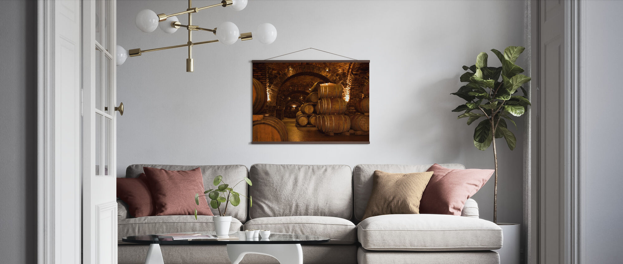 Wine Cellar Barrels - Poster - Living Room