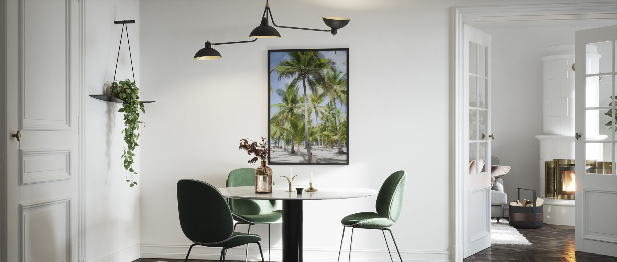 Palm Trees in Bohol, Phillipines - Framed print - Kitchen