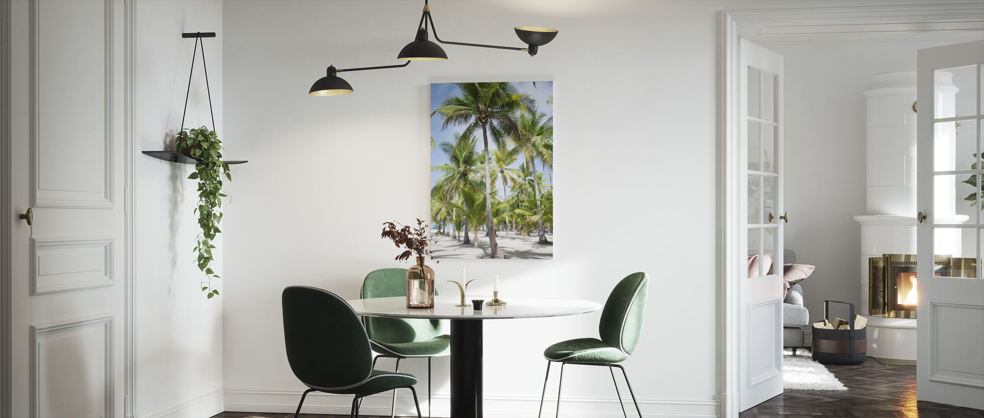 Palm Trees in Bohol, Phillipines - Canvas print - Kitchen