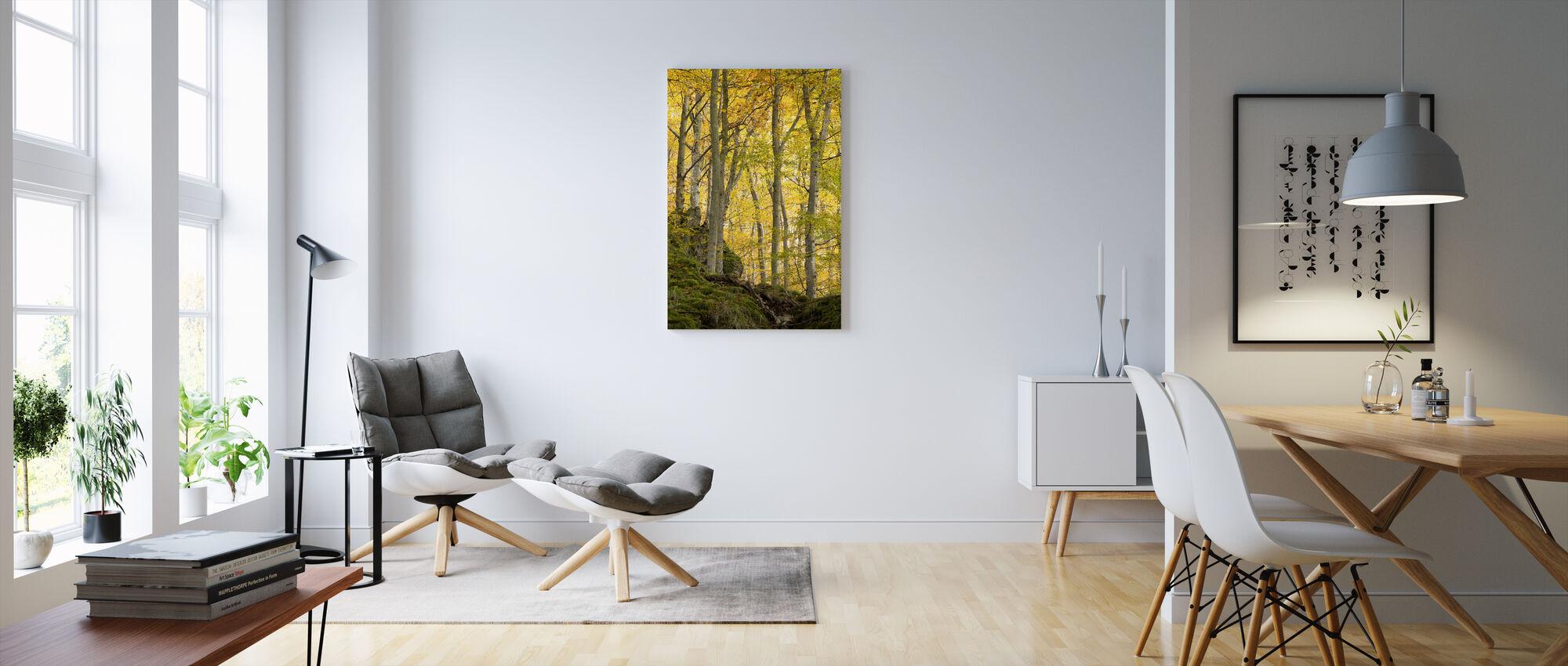 Jesienne drzewo osiki - Obraz na płótnie - Pokój dzienny