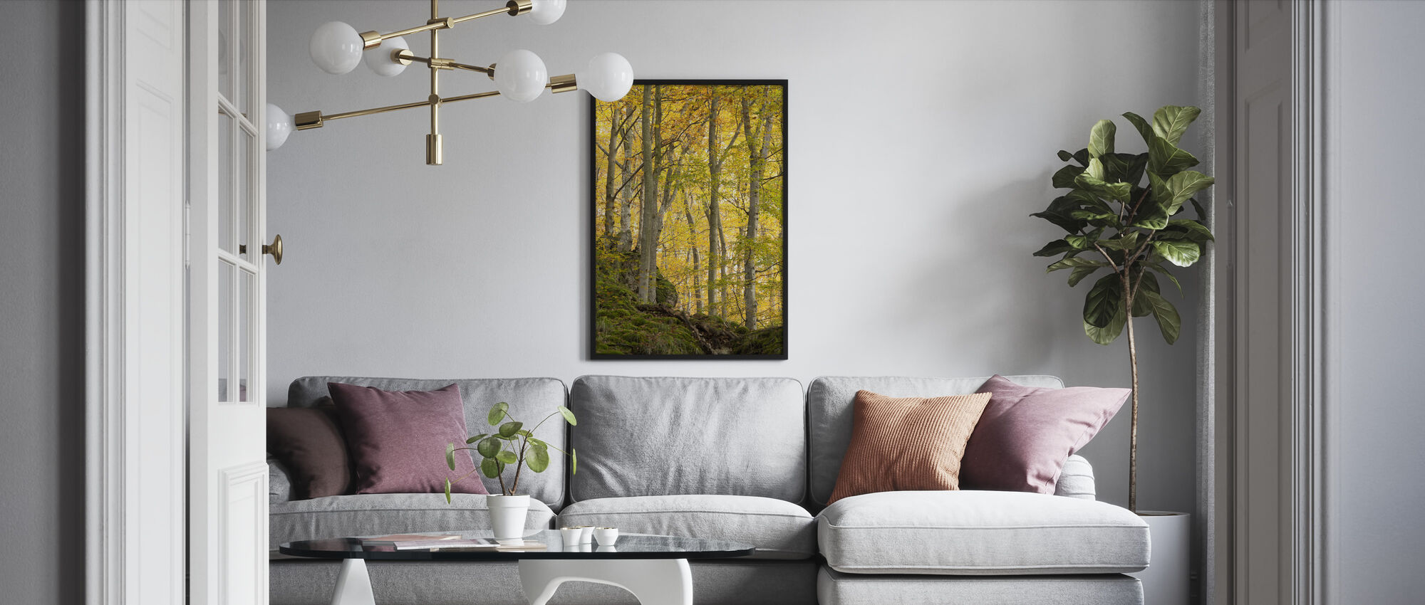Autumn Aspen Tree - Framed print - Living Room