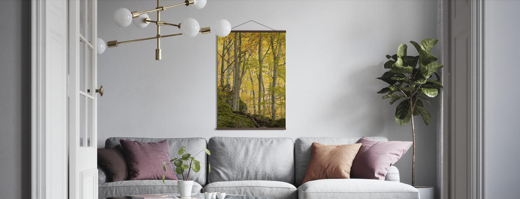Autumn Aspen Tree - Poster - Living Room