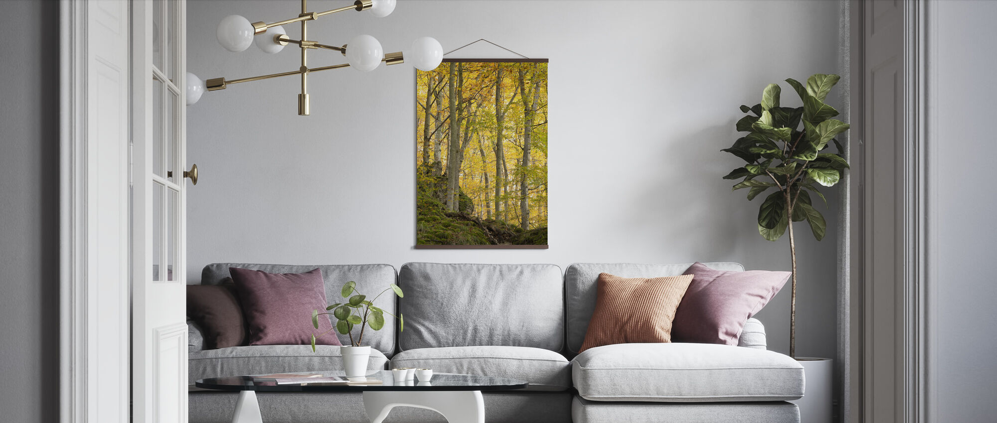 Herfst Aspen Boom - Poster - Woonkamer
