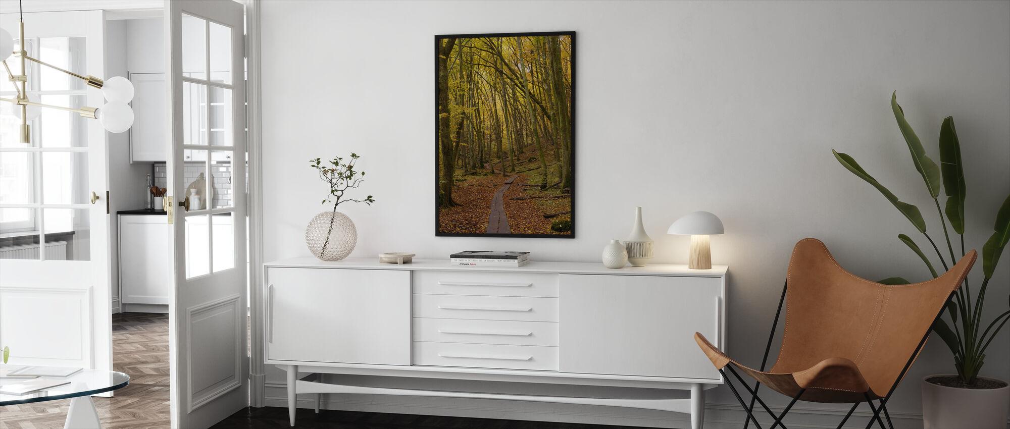 Path through Beech Wood - Framed print - Living Room