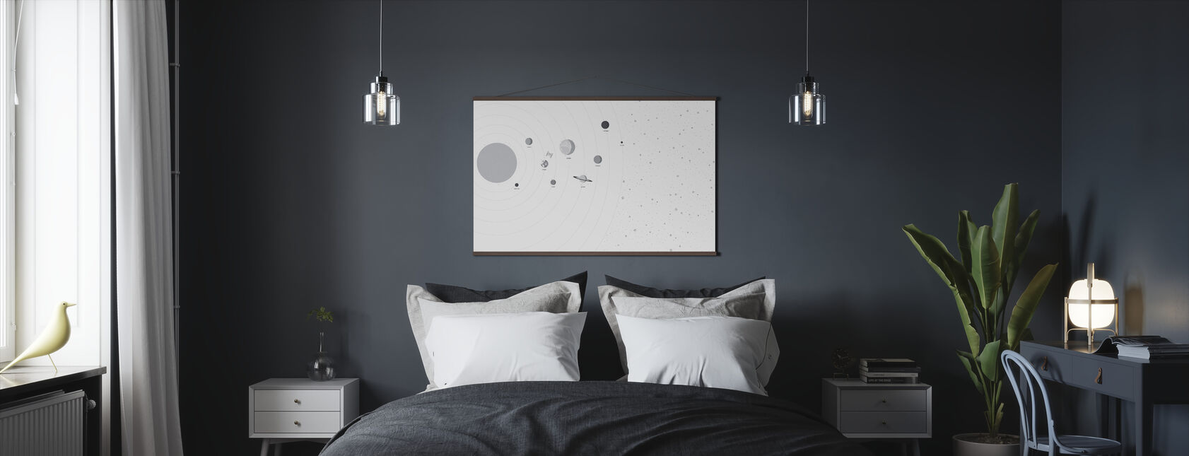 Planets and Stars - Poster - Bedroom