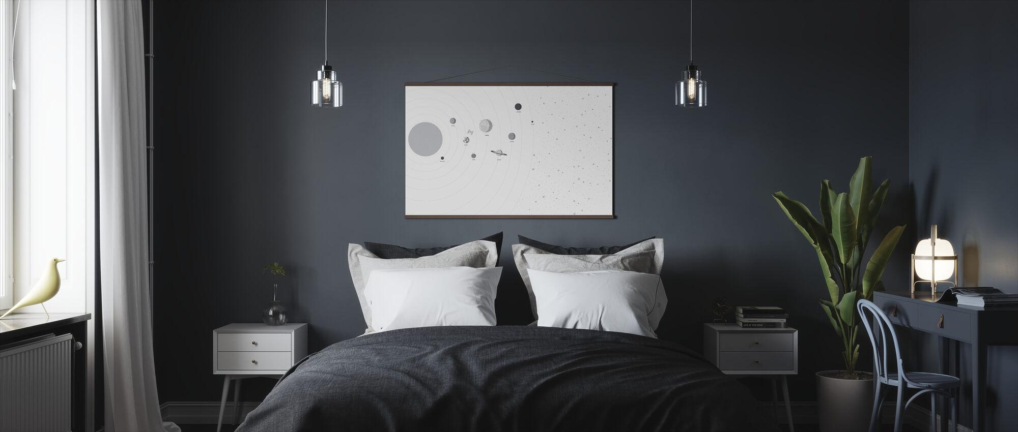 Planeten en sterren - Poster - Slaapkamer