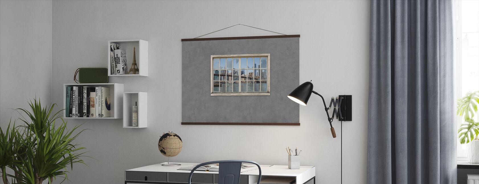 View from Basement Windows - Brooklyn Bridge - Poster - Office