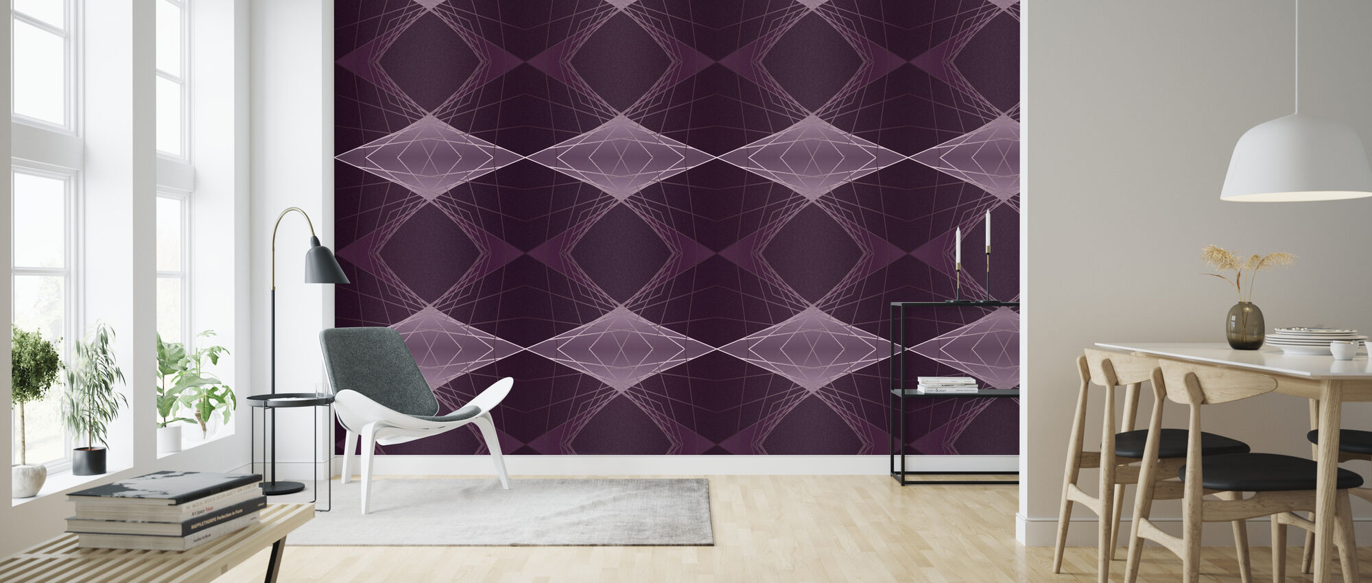 Technicue Magenta - Wallpaper - Living Room