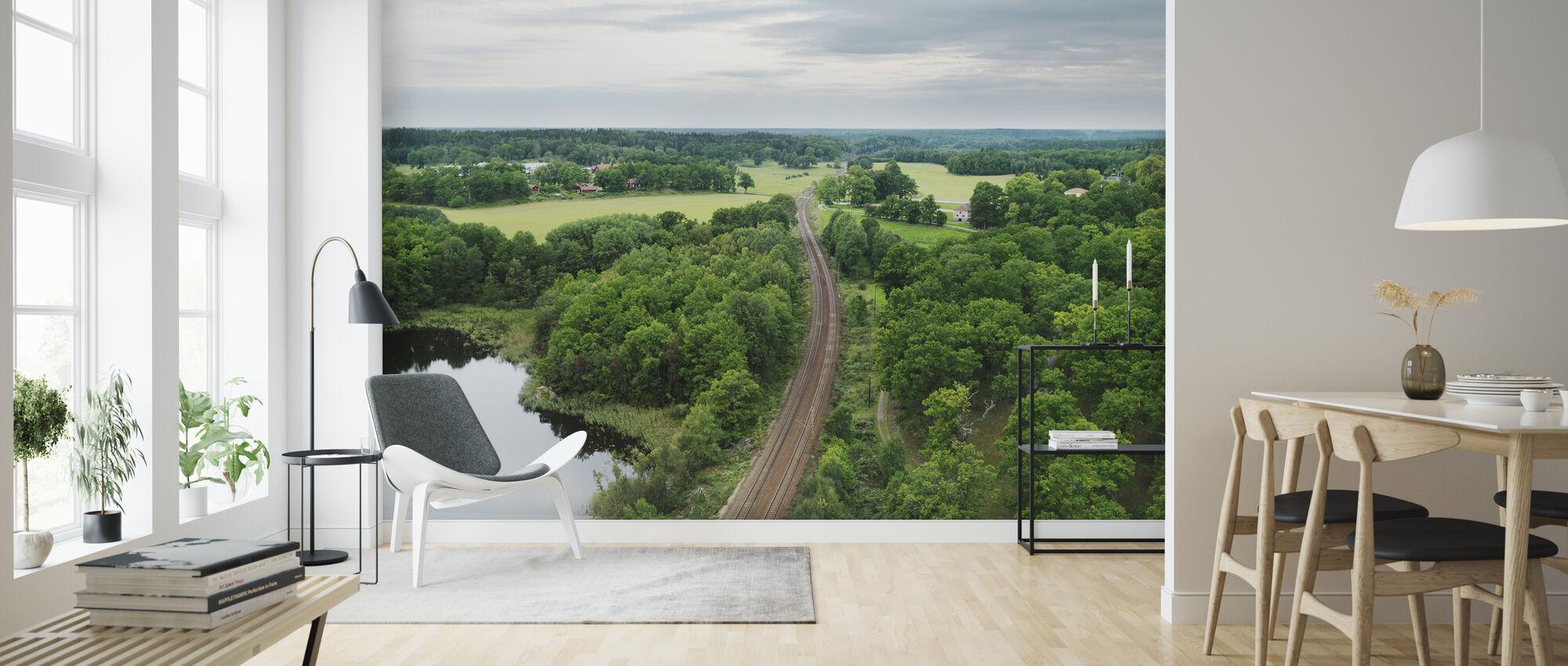 Rautatie Södermanlandin kautta, Ruotsi - Tapetti - Olohuone