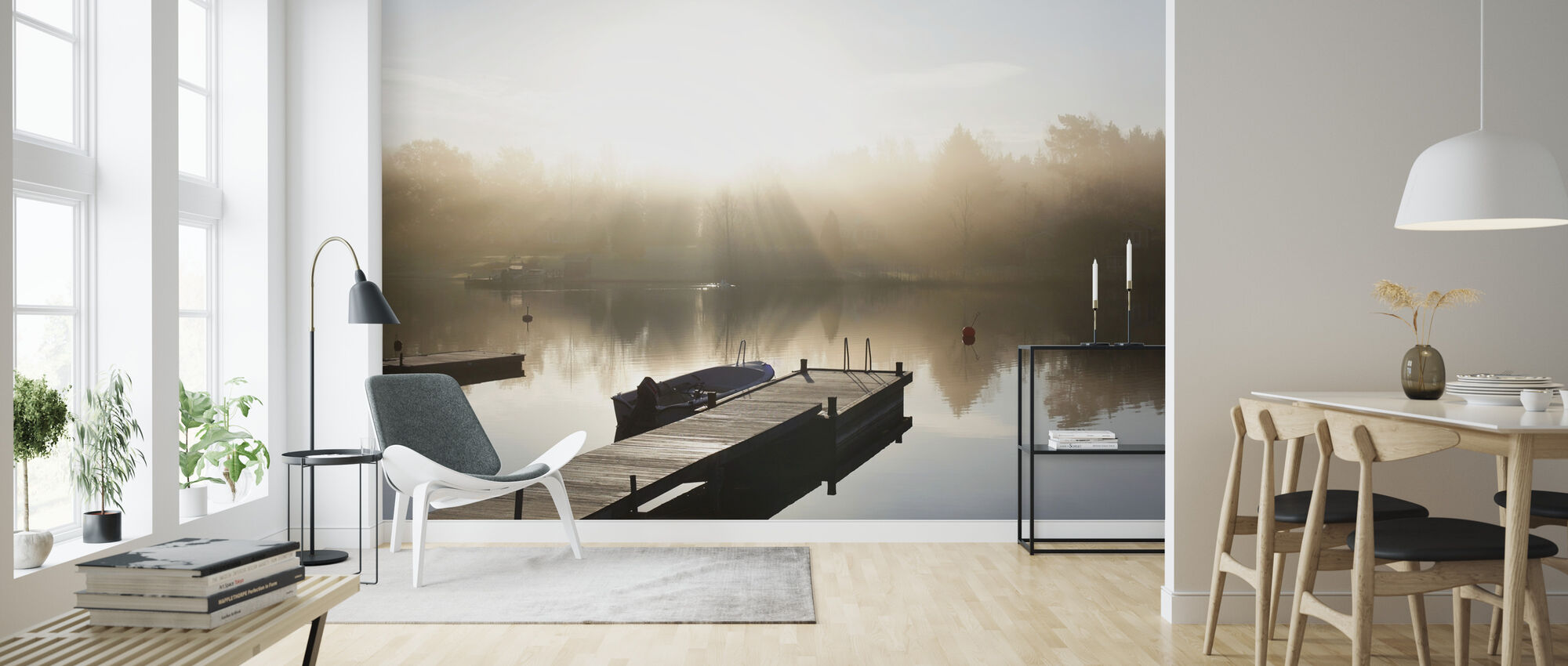 Pier in Roslagen, Sweden - Wallpaper - Living Room