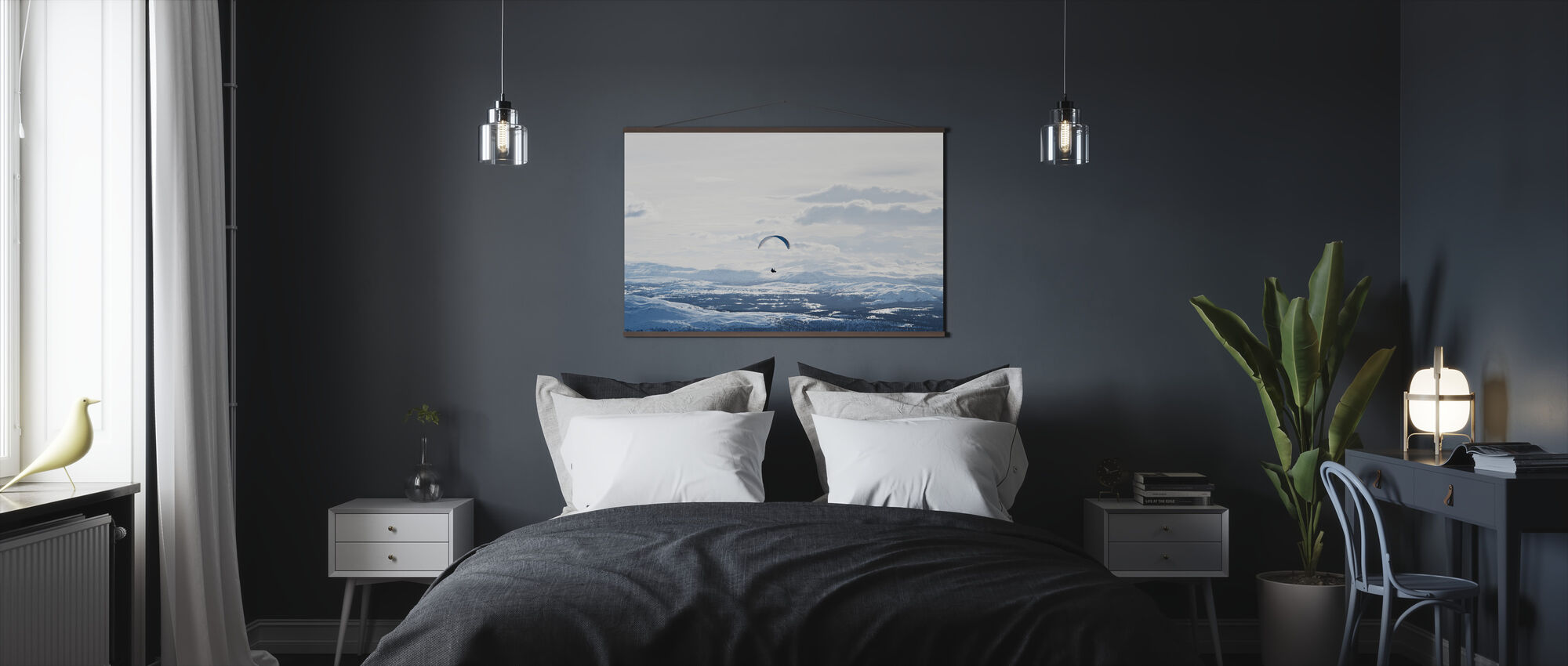 Parachuting in Åre, Sweden - Poster - Bedroom