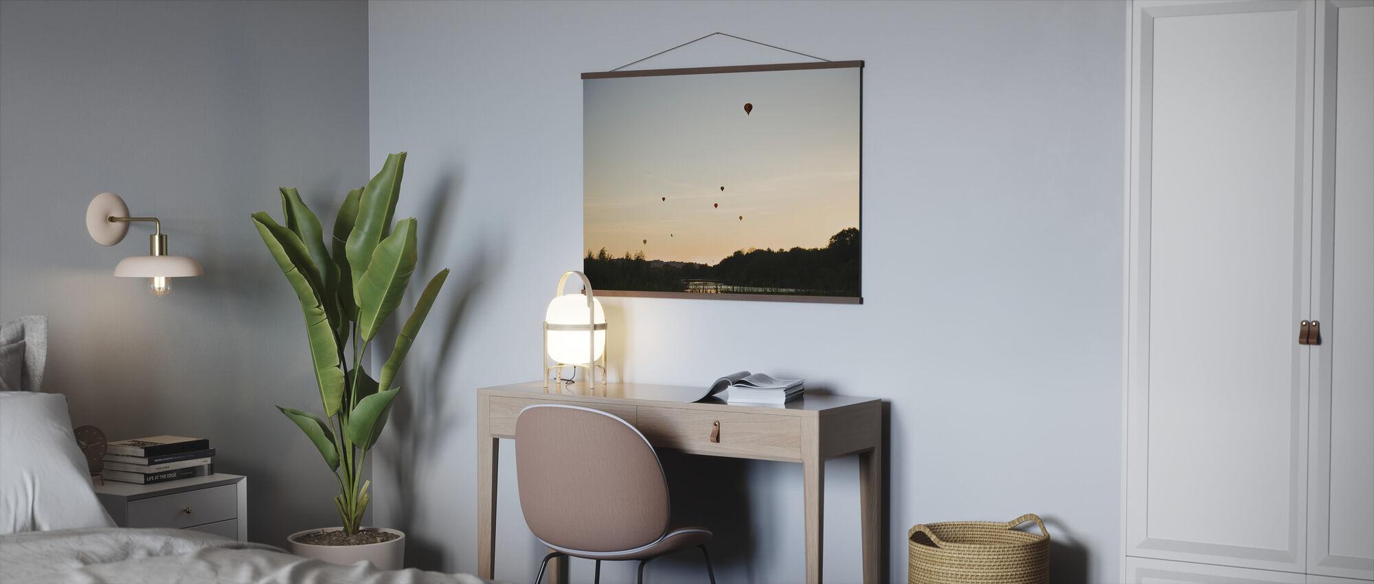 Air Balloons over Lake Råstasjön, Sweden - Poster - Office