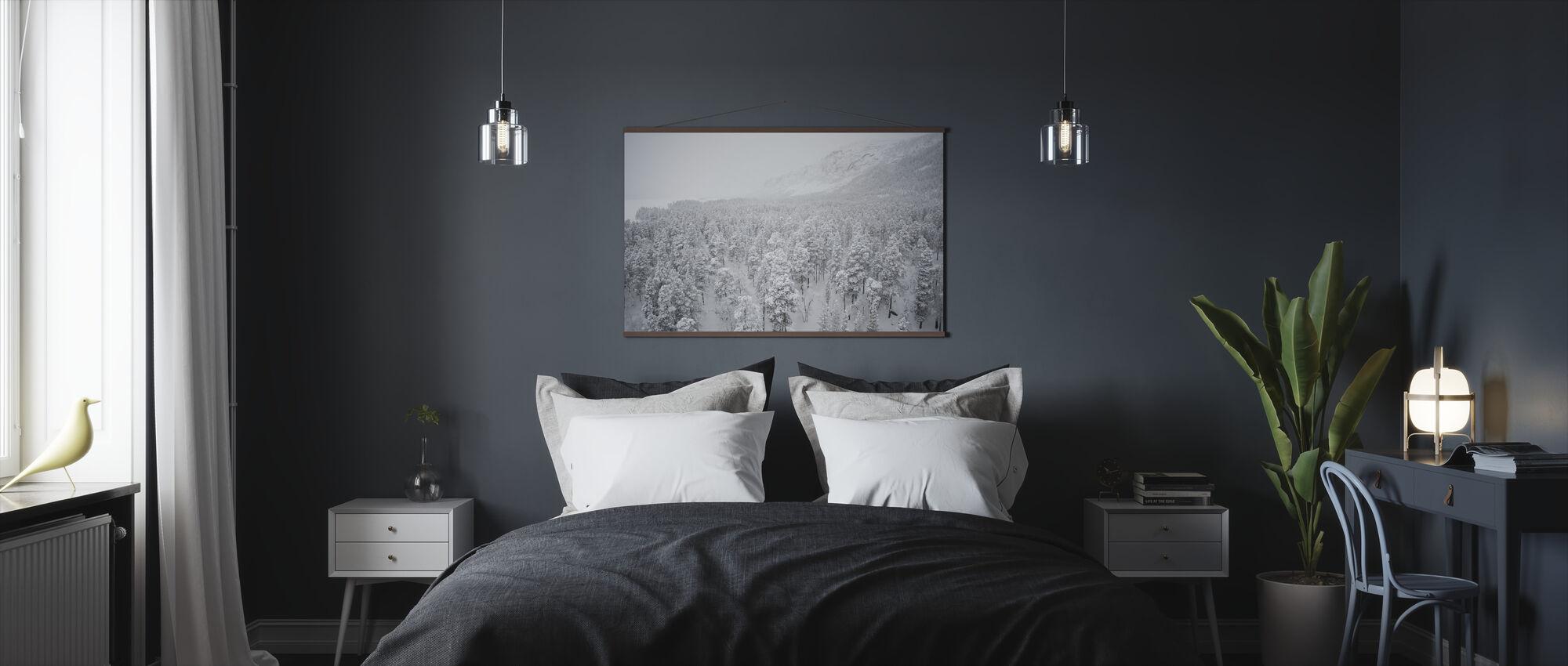 Snowy Firs in Jokkmokk, Sweden - Poster - Bedroom