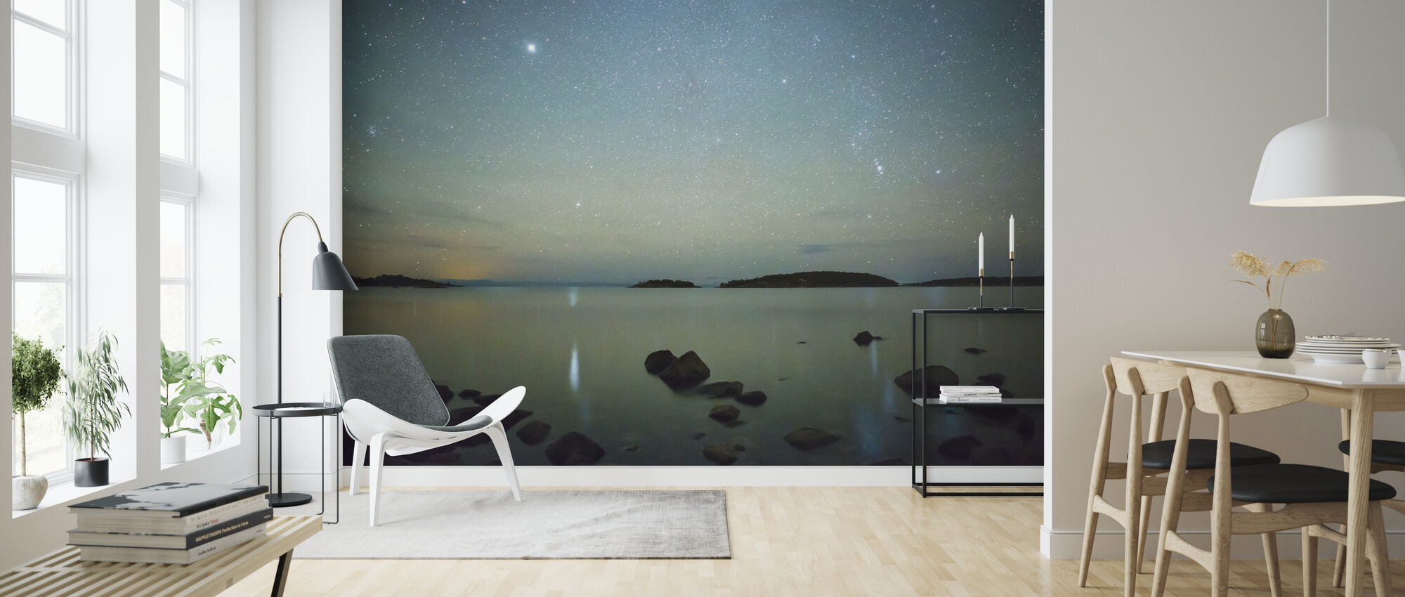 Starry Sky over Juniskär, Sweden - Wallpaper - Living Room
