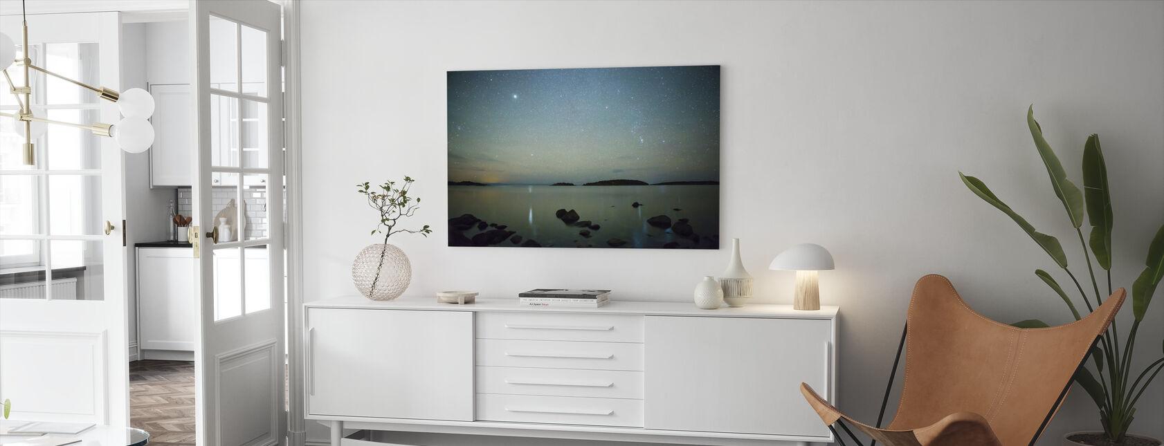 Starry Sky over Juniskär, Sweden - Canvas print - Living Room
