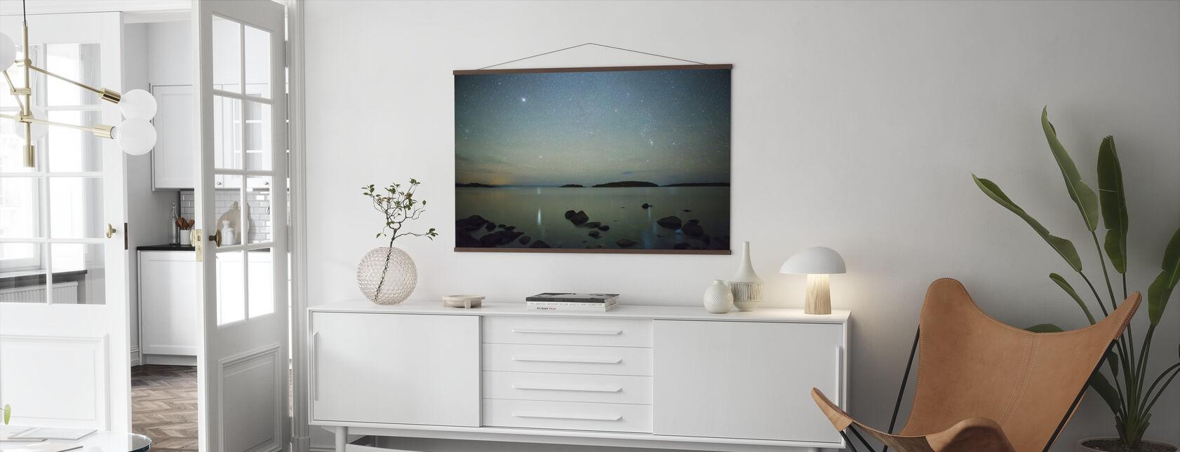 Starry Sky over Juniskär, Sweden - Poster - Vardagsrum