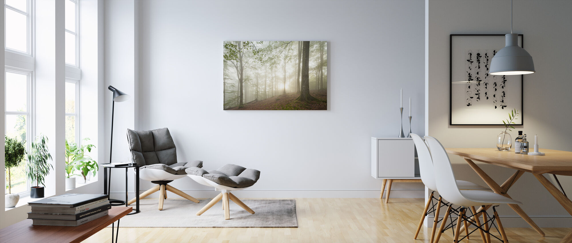 Swedish Beech Forest II - Canvas print - Living Room
