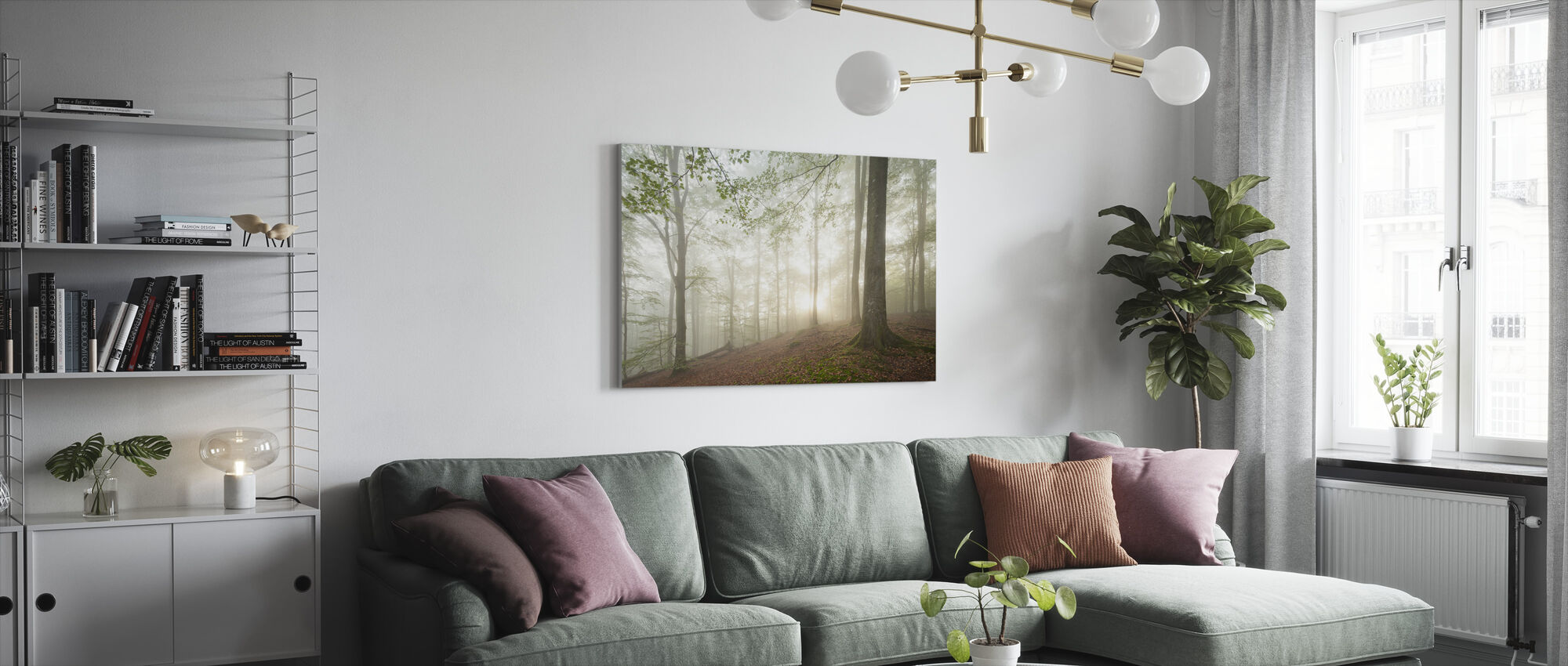 Swedish Beech Forest II - Canvas print - Living Room