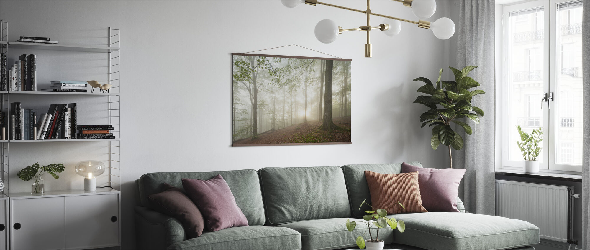 Swedish Beech Forest II - Poster - Living Room