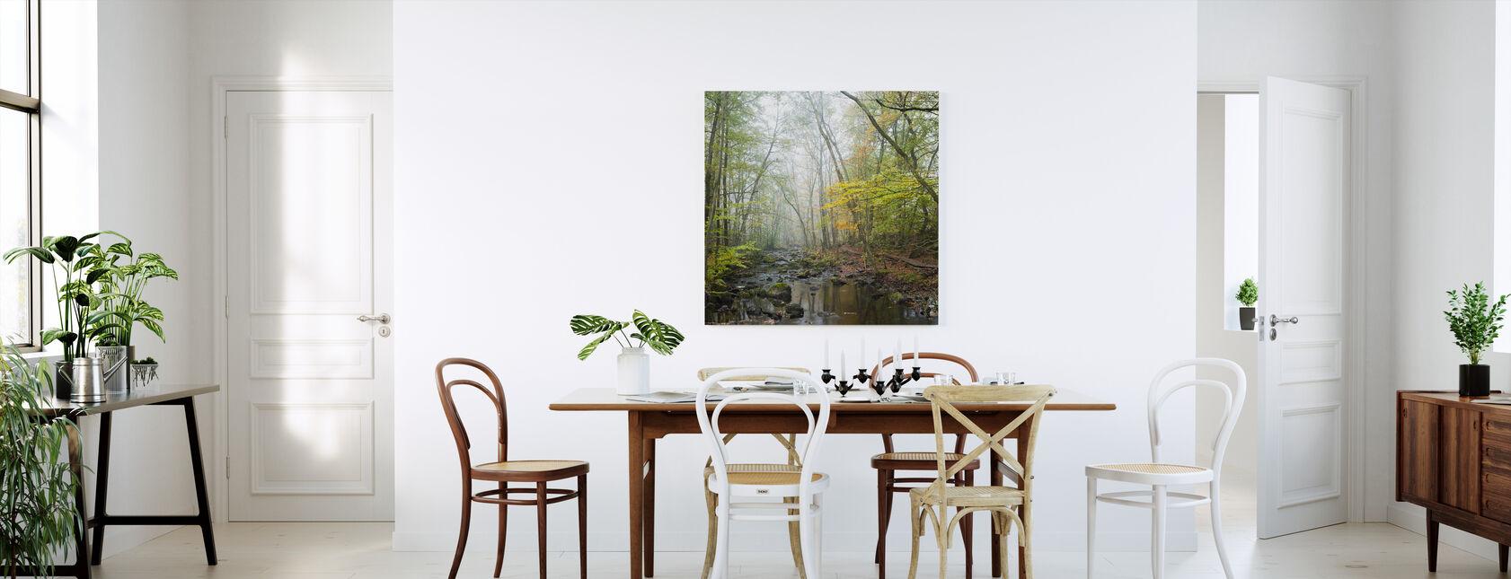 Stream in Swedish Beech Forest I - Canvas print - Kitchen