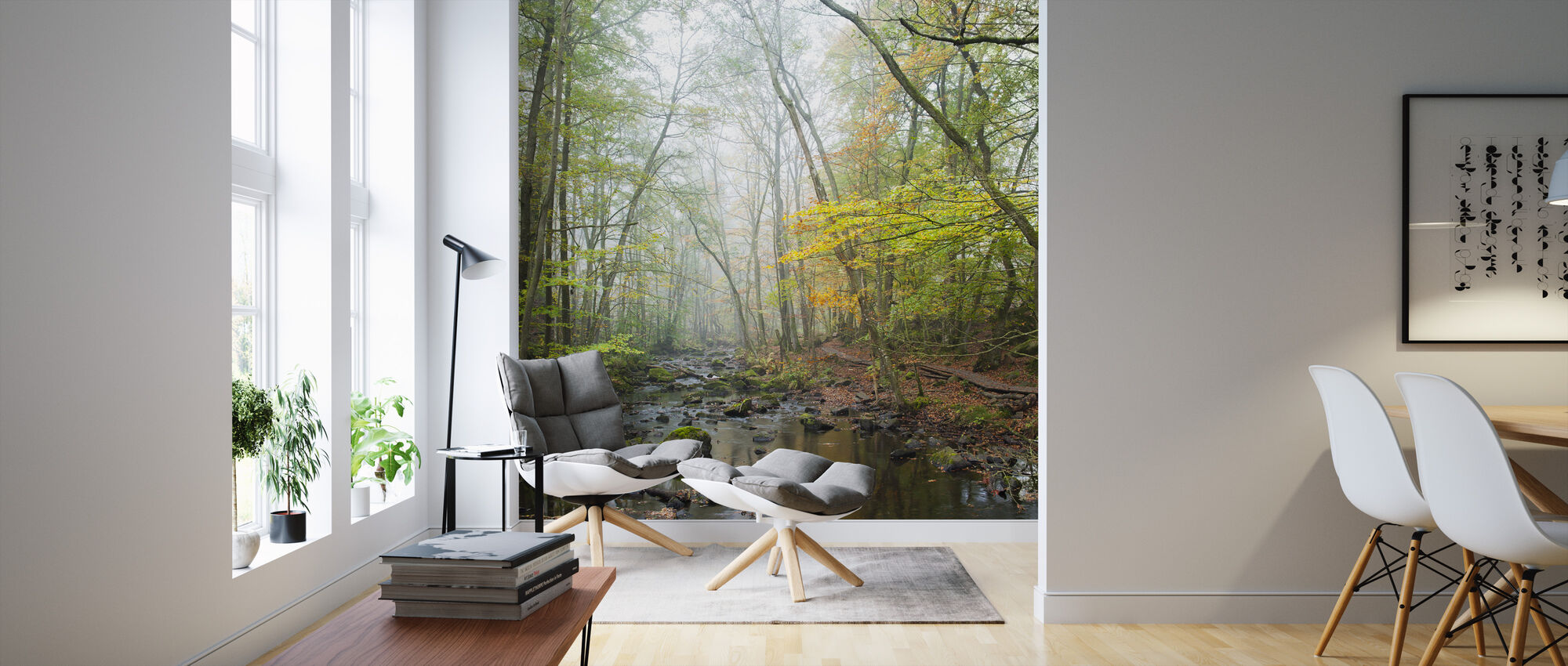 Stream in Swedish Beech Forest I - Wallpaper - Living Room