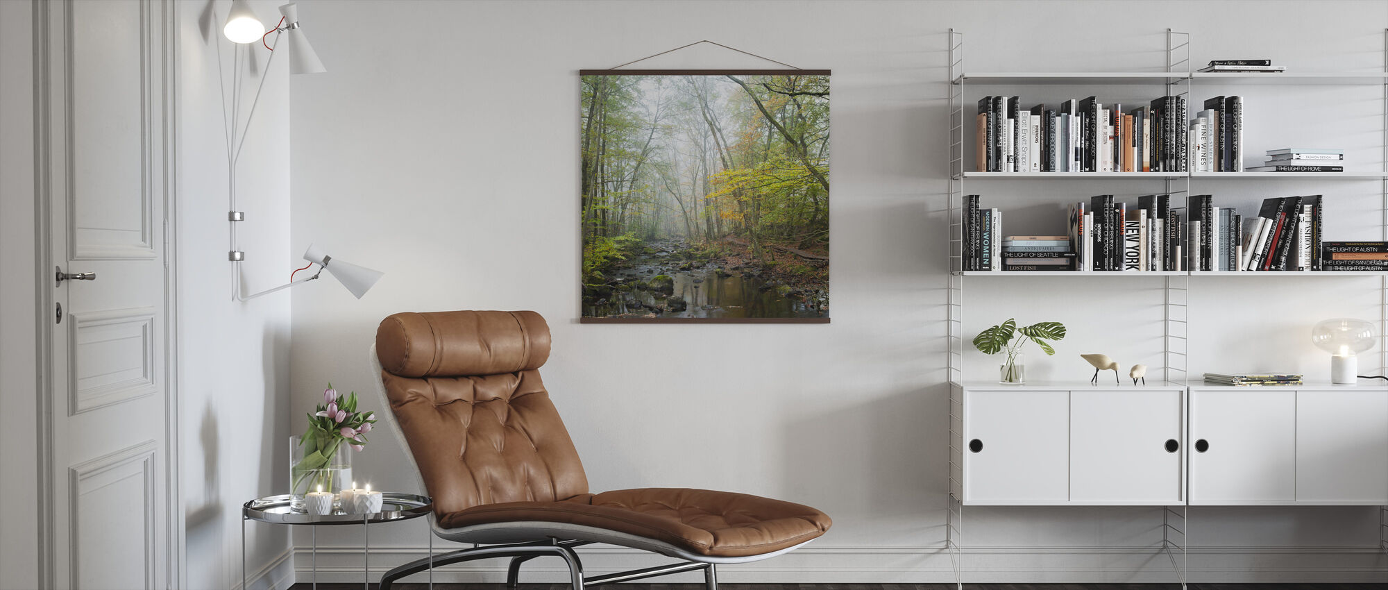 Stream in Swedish Beech Forest I - Poster - Living Room