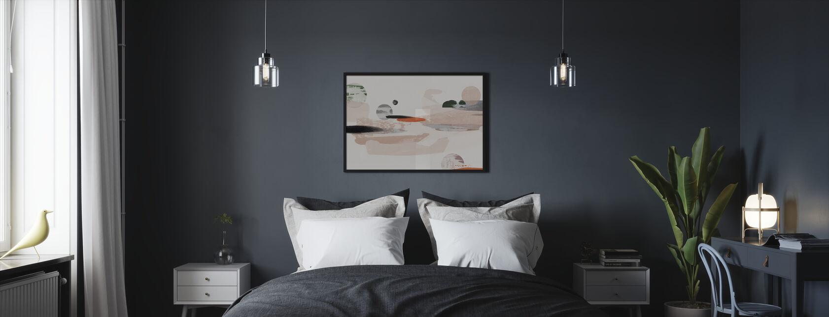 Abstrakcja kosmiczna - Obraz w ramie - Sypialnia