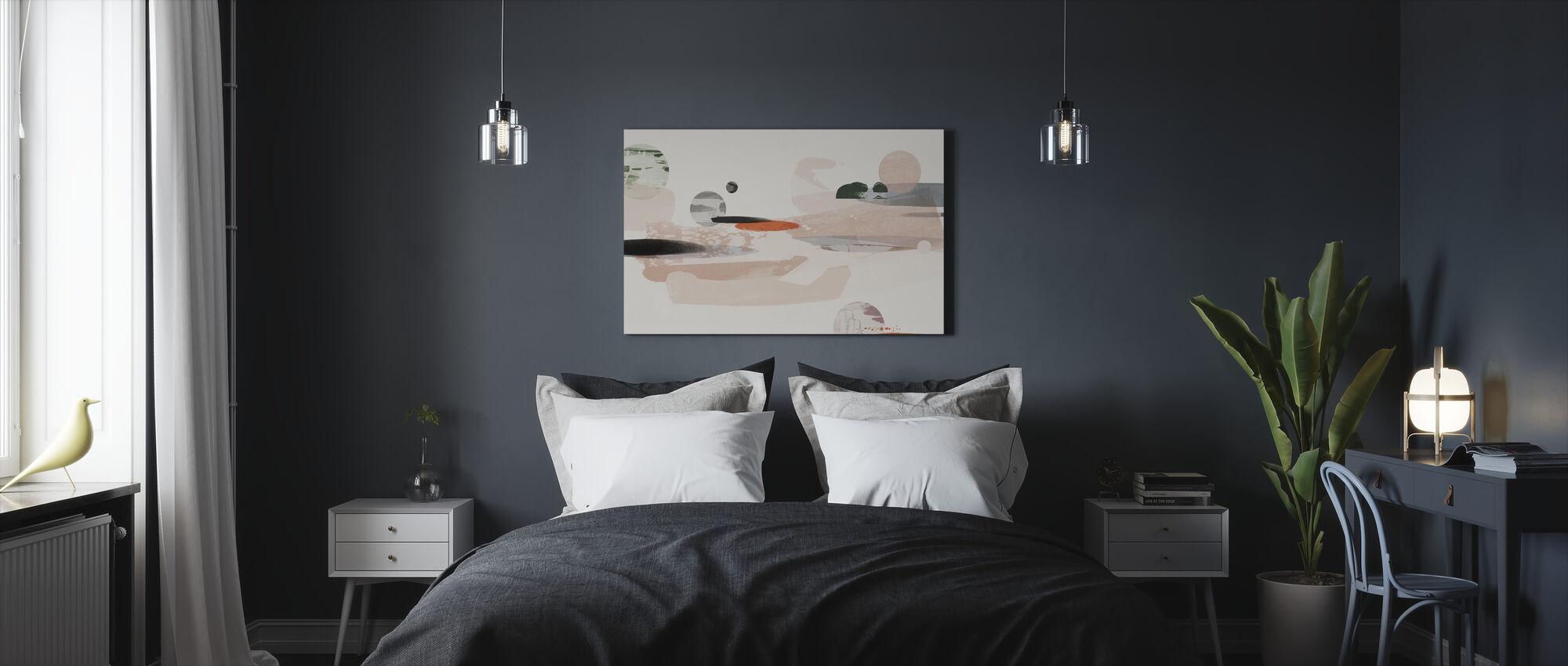 Kosminen abstraktio - Canvastaulu - Makuuhuone