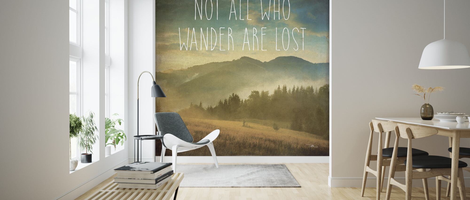 Wander II - Tapeta - Pokój dzienny