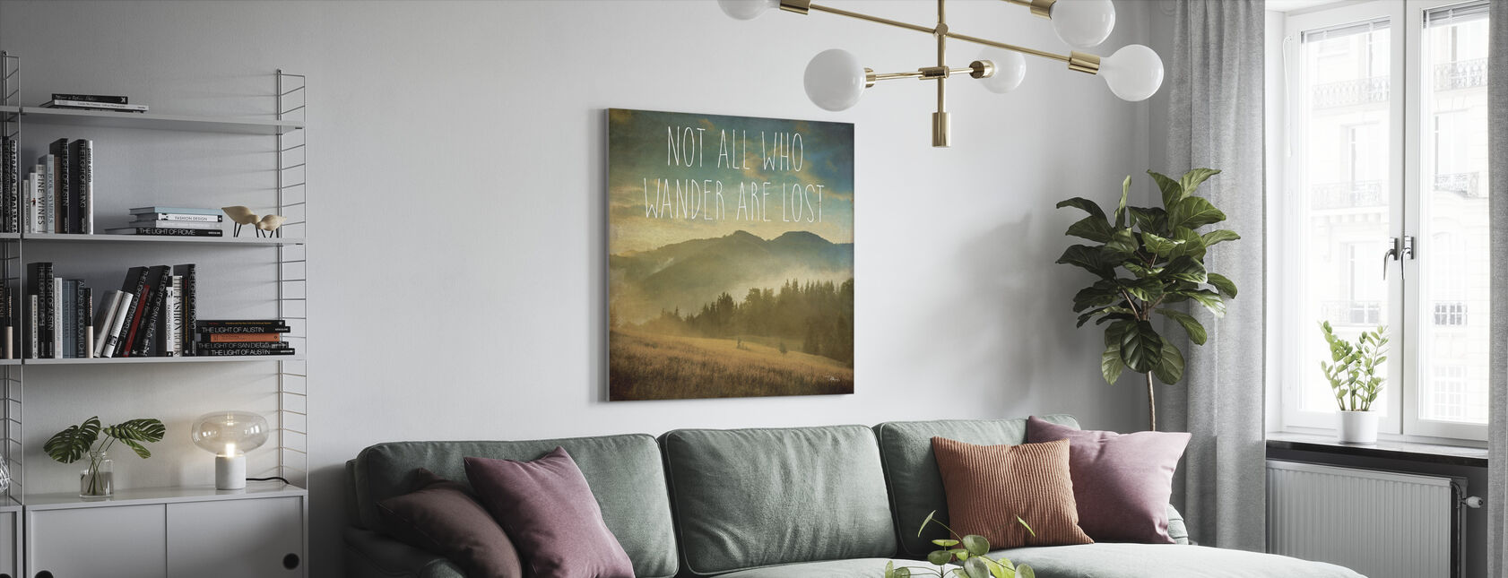 Wander II - Canvas print - Living Room