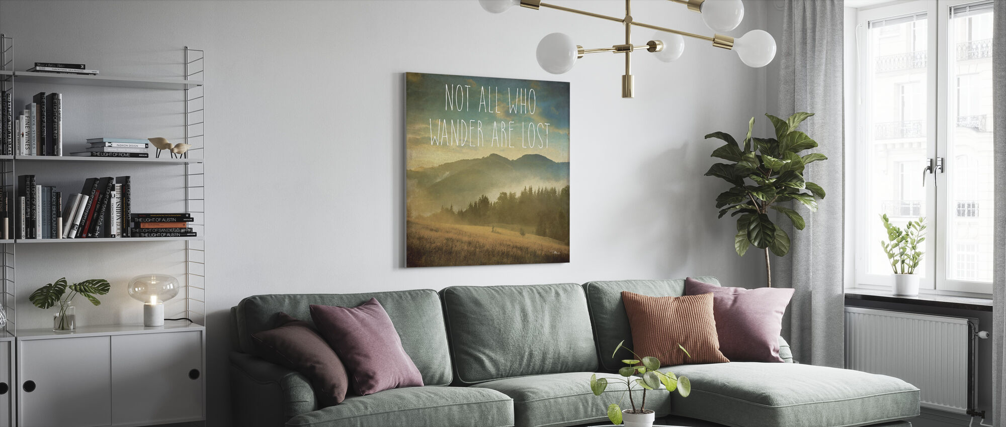 Wander II - Canvas print - Living Room