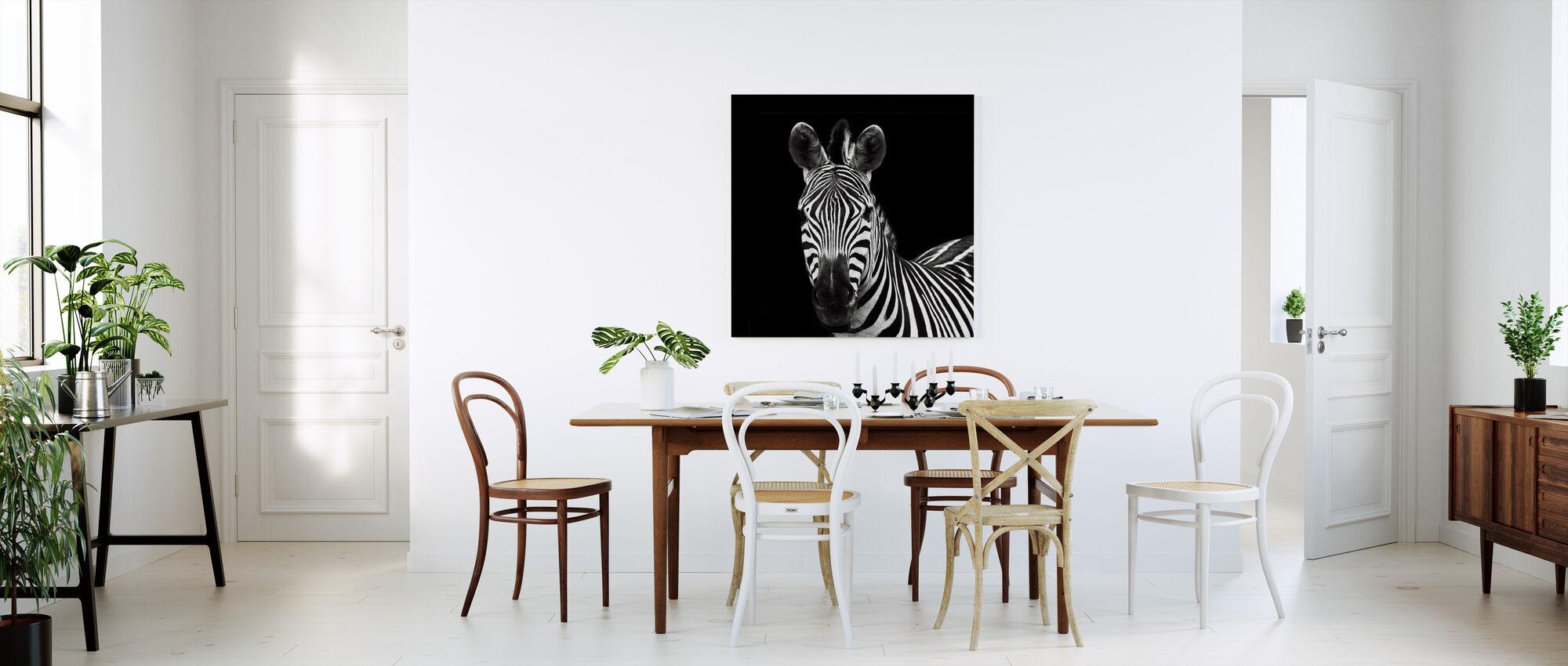 Zebra II Square - Canvas print - Kitchen