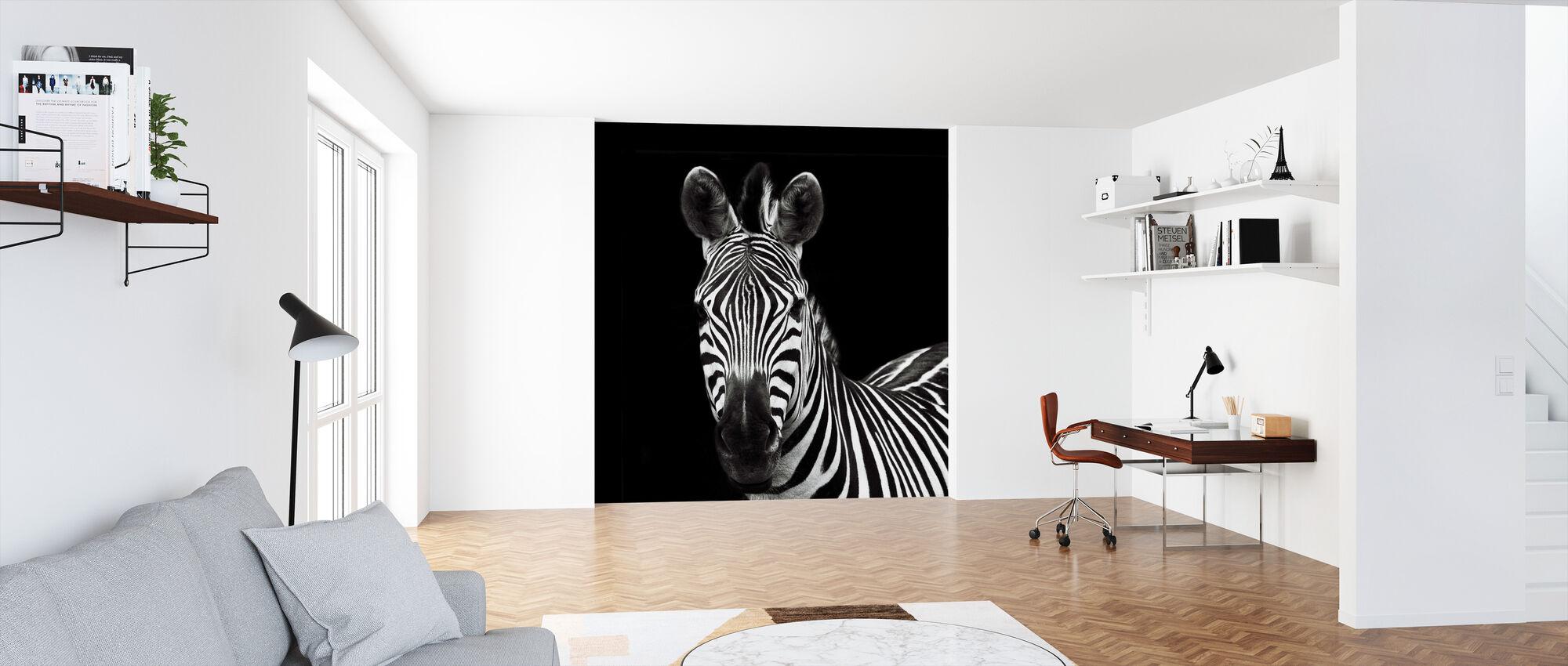 Zebra II-plein - Behang - Kantoor