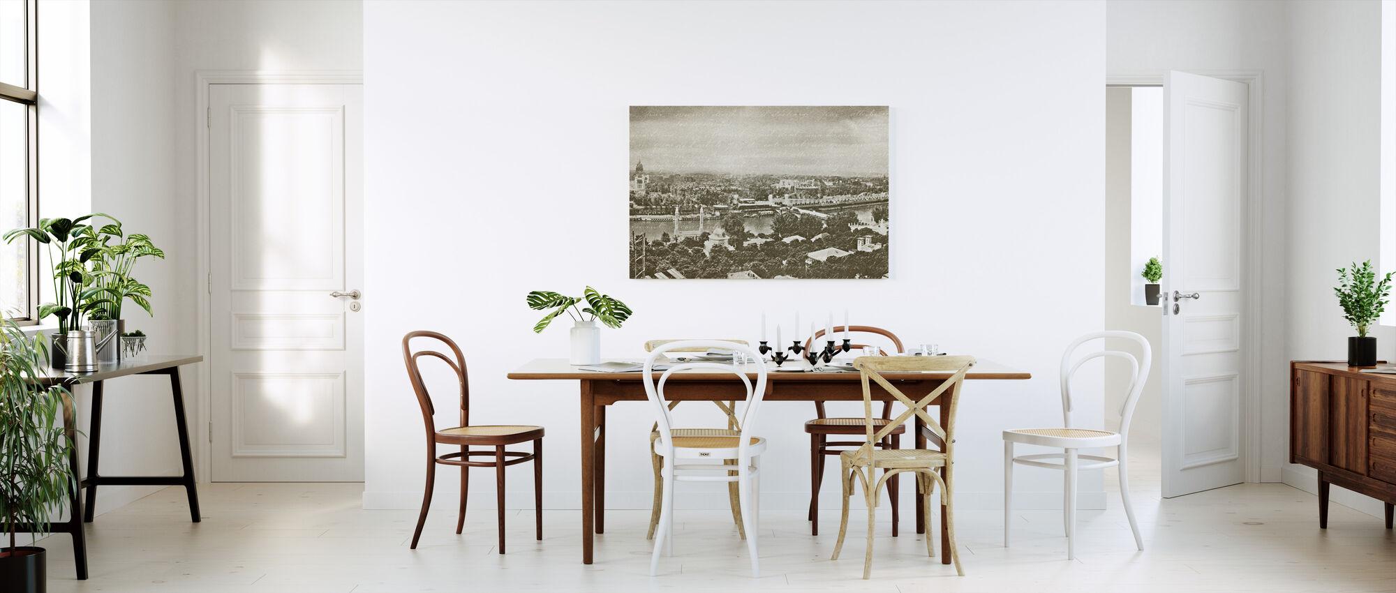 Pariisin Panorama - Canvastaulu - Keittiö