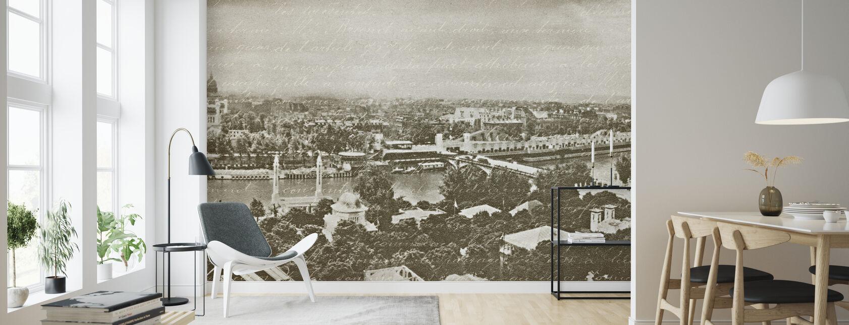 Paris Panorama - Wallpaper - Living Room