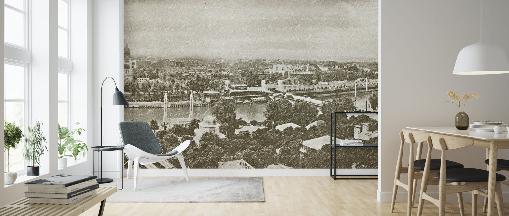 Paris Panorama - Wallpaper - Living Room