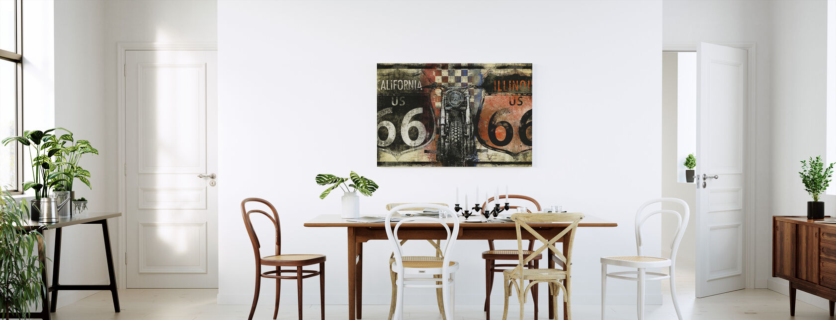 Route 66 Californië - Canvas print - Keuken