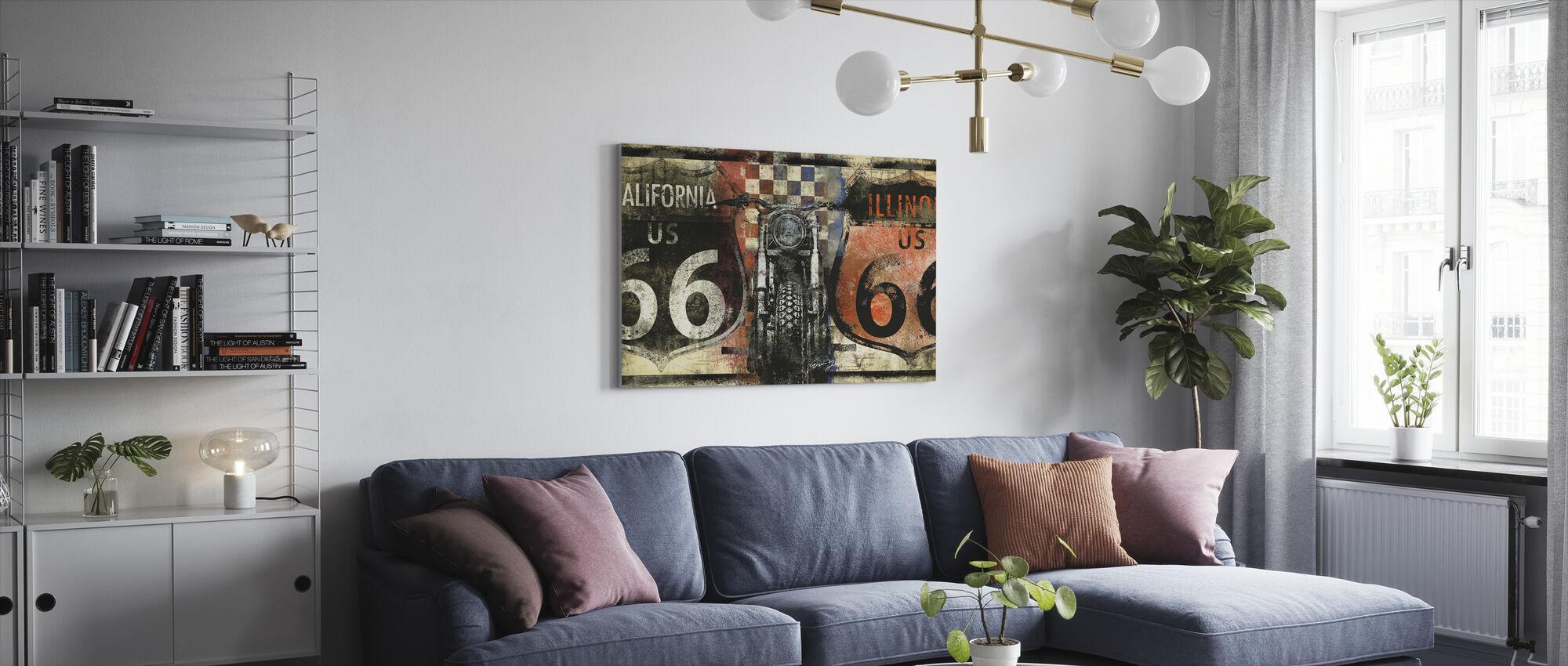 Route 66 Californië - Canvas print - Woonkamer