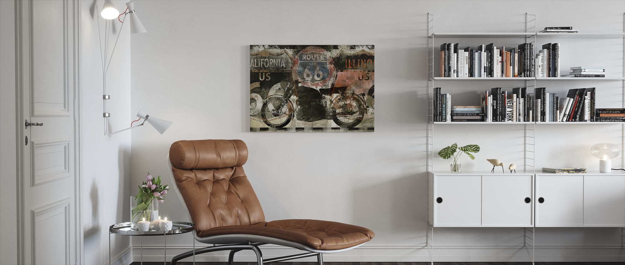Route 66 US - Canvas print - Woonkamer