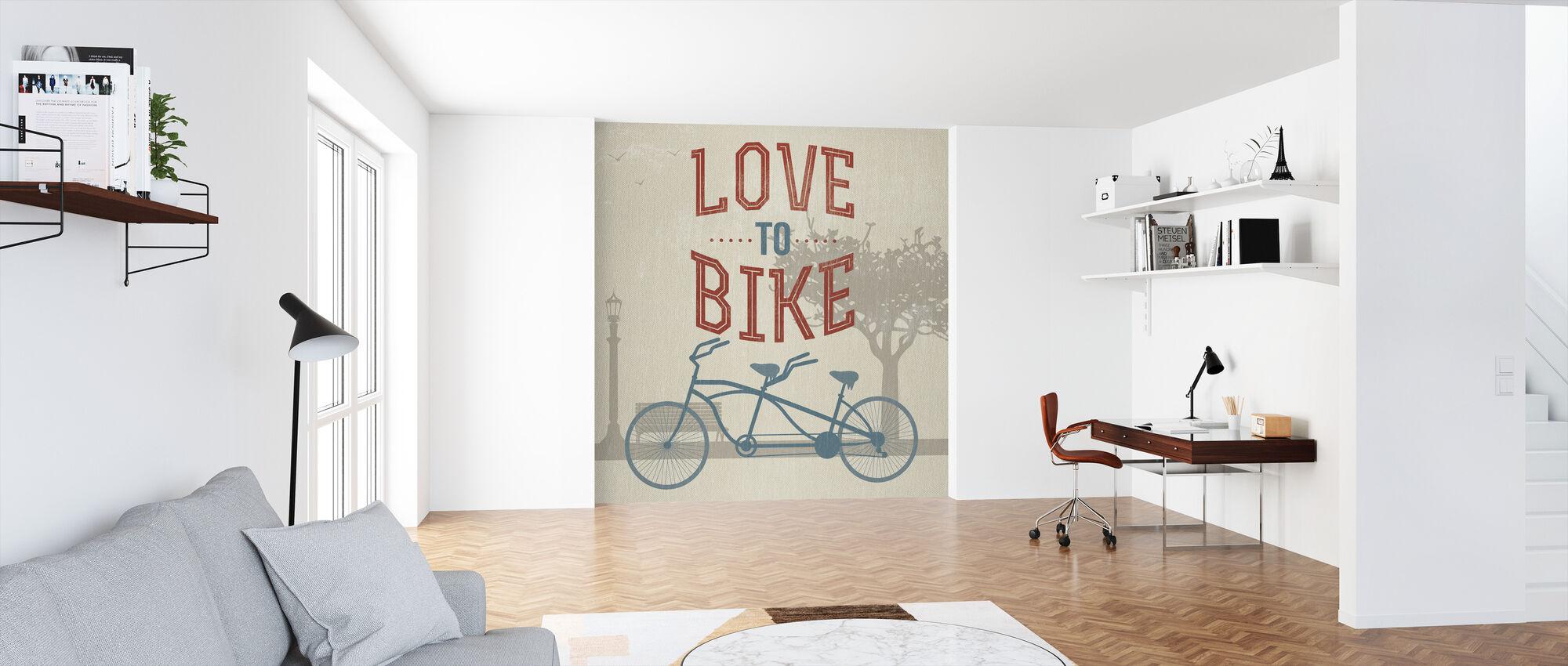 Liefde om te fietsen - Behang - Kantoor