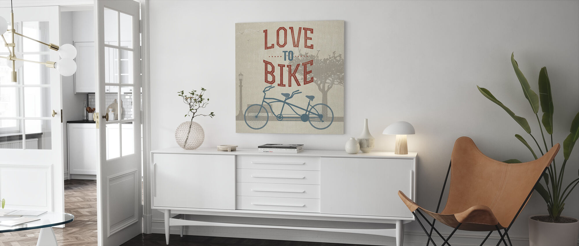 Liefde om te fietsen - Canvas print - Woonkamer